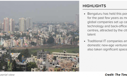 Bengaluru is the largest office market in Asia-Pacific