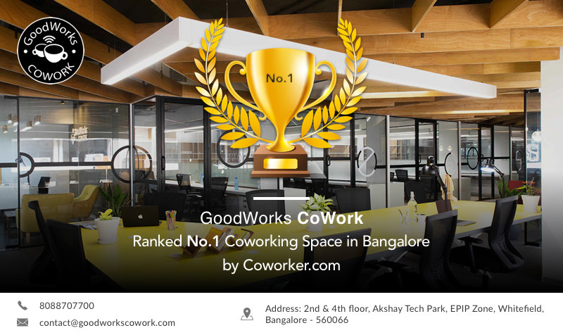 No 1 Coworking Space in bangalore 2019