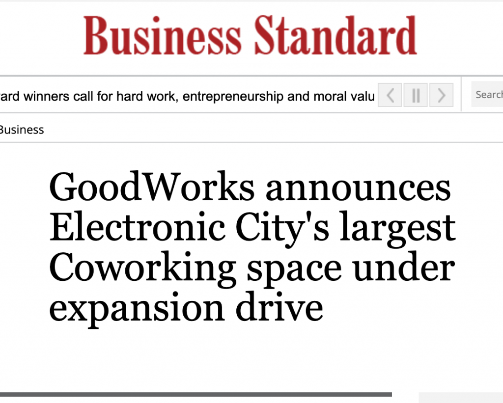 goodworks in Business Standard
